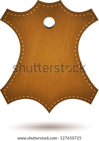 Genuine leather symbol isolated on white. Vector