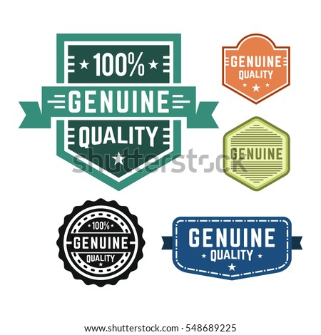Genuine quality set of vintage design labels and badges