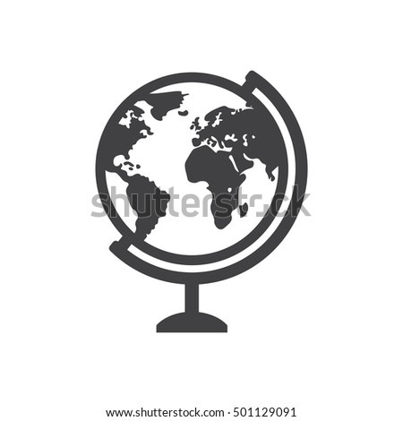 Geography earth globe icon. Geography earth globe icon on the white background