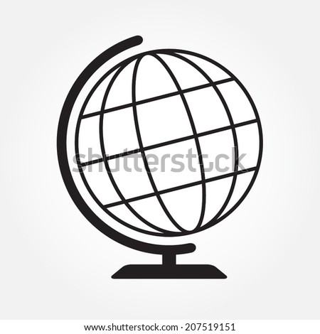 Geography earth globe icon or sign. Vector illustration. - stock vector