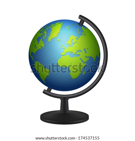 geography school earth globe icon. vector illustration - stock vector