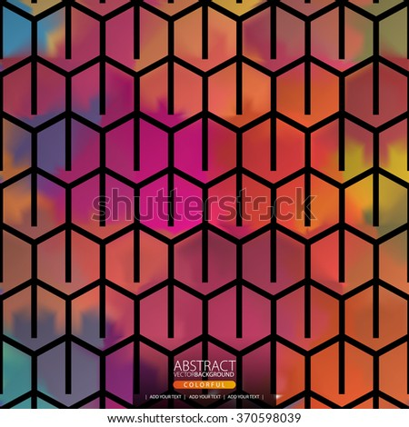 Geometric abstract background for design - stock vector