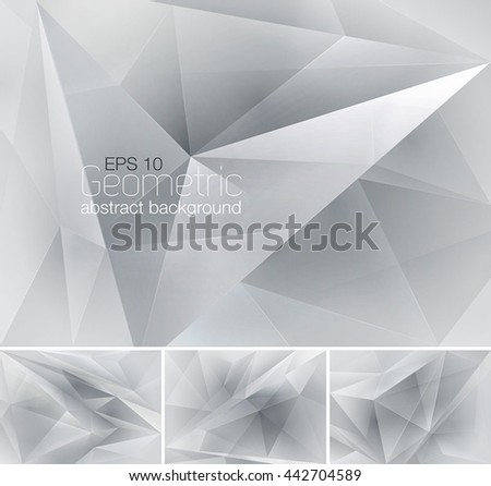 Geometric abstract background. Low poly vector background series, suitable for design element and web background - stock vector