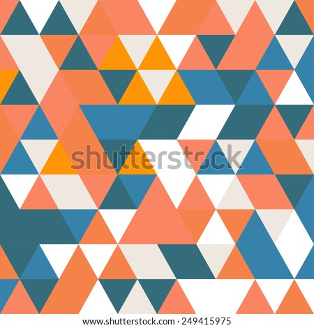 Geometric Abstract Background Triangle background in blue, pink and orange colors