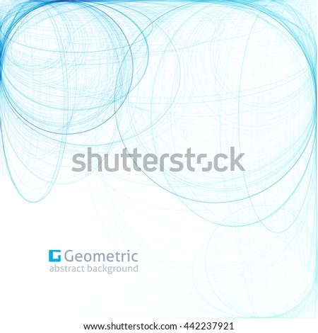 geometric abstract background with circles, illustration for business layouts - stock vector