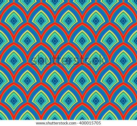 Geometric abstract decorative vector background - stock vector