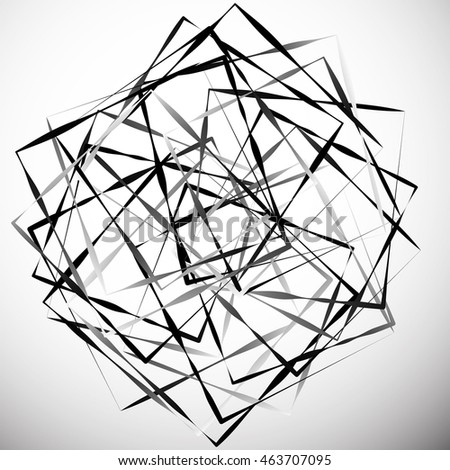 Geometric abstract illustration with irregular squares. Modern art vector illustration