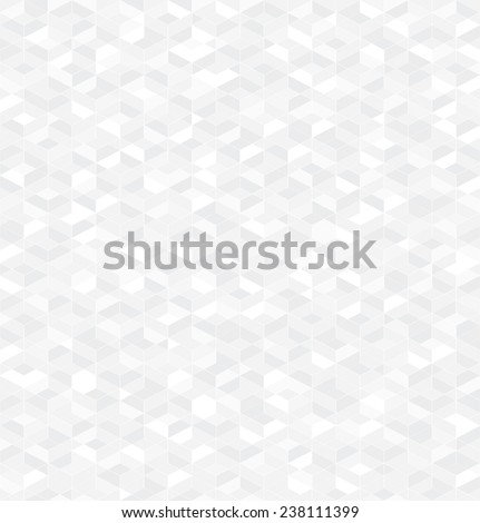 Geometric abstract pattern of triangles and rhombuses. Seamless vector background. Gray and white texture. - stock vector