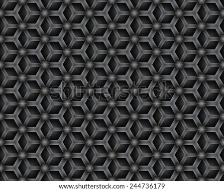 Geometric abstract seamless chain pattern - stock vector