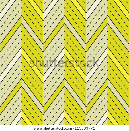 Geometric abstract seamless pattern. Vector background with line and zig zag. - stock vector