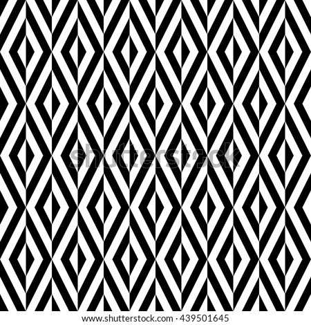 Geometric abstract vector background. Seamless modern pattern. Black and white pattern - stock vector