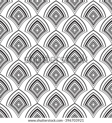 Geometric abstract vector decorative background