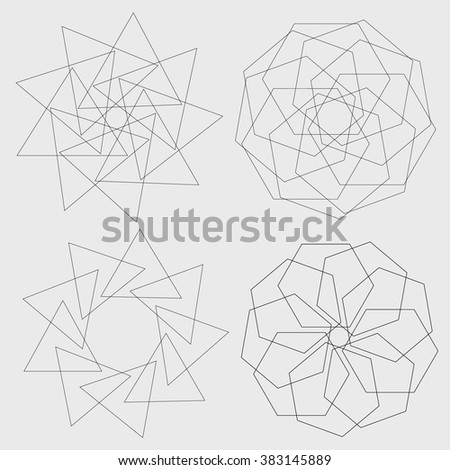 geometric abstraction, mandala
