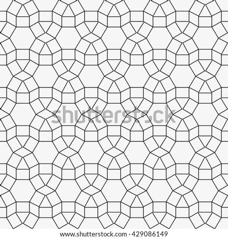 Geometric background. Contour seamless pattern - stock vector