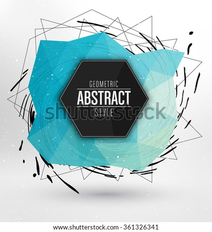 Geometric Background Design - Polygonal Elements - Abstract Premium Design - Scientific Future Technology Concept - Infographic Template - Design Layout for Business Presentations, Flyers or Posters - stock vector
