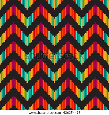 Geometric background. Grid, abstract, isometric, zigzag seamless pattern. Can be used in textiles, for book design, website. - stock vector