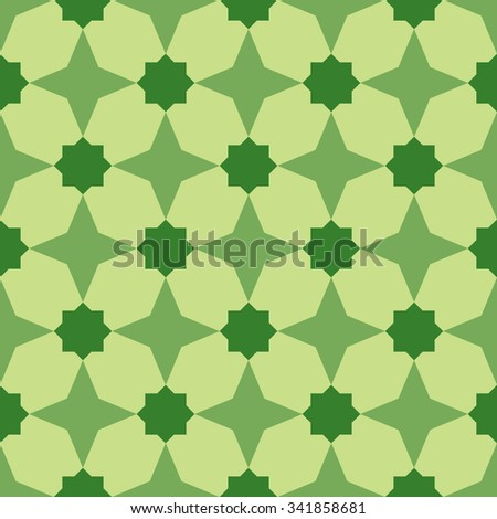 Geometric background.  Seamless pattern. Traditional tile ornament. Vector illustration.