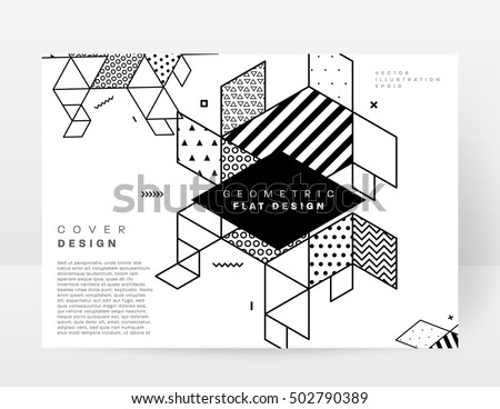 Geometric background Template for covers, flyers, banners, posters and placards, may be used for presentations and book covers, EPS10 vector illustration