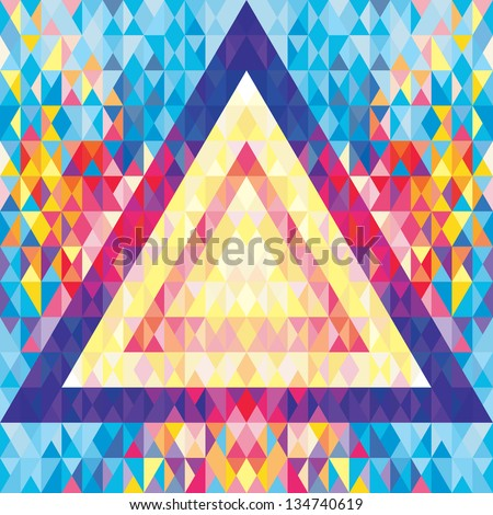 Geometric Background - Vector Pattern - Music Flyer & Poster - stock vector