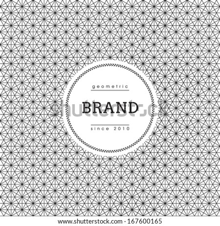 Geometric Background with Label