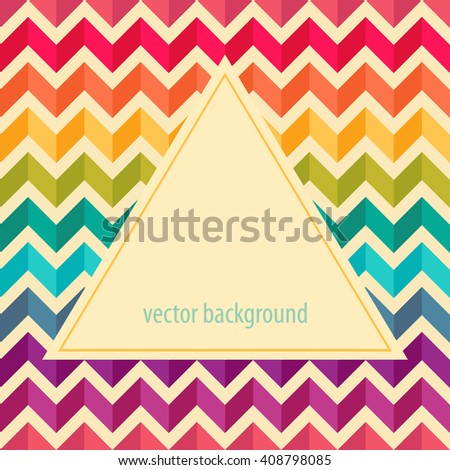 Geometric background with zigzags. Abstract pattern. Frame for logo, label or greetings. - stock vector