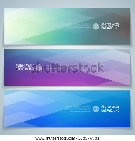 Geometric banner. Abstract vector background eps 10. - stock vector