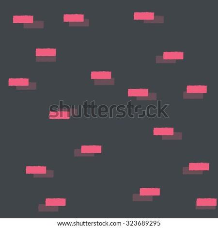 Geometric blocks, seamless pattern, vector illustration - stock vector