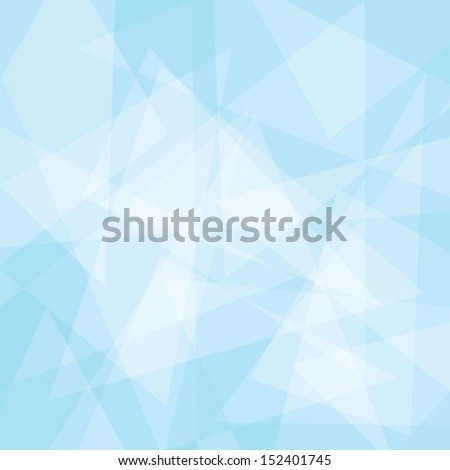Geometric blue vector background - stock vector