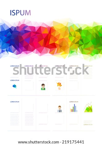 Geometric bright abstract banner. Modern poster. - stock vector