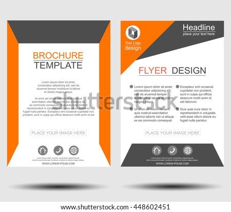 Geometric brochure flyer design template vector. Leaflet cover abstract background, Layout in A4 size. Flat design for business financial marketing banking office advertisement concept illustration.