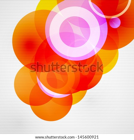 Geometric color circles vector modern template - stock vector