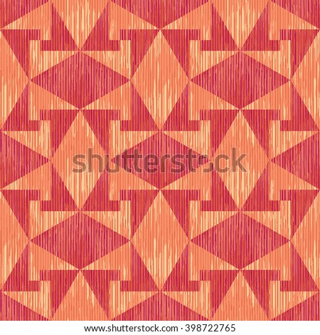 Geometric counter change pattern seamless vector background tile