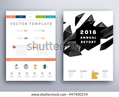 Geometric Cover Background Brochure Template Layout Stock Photo