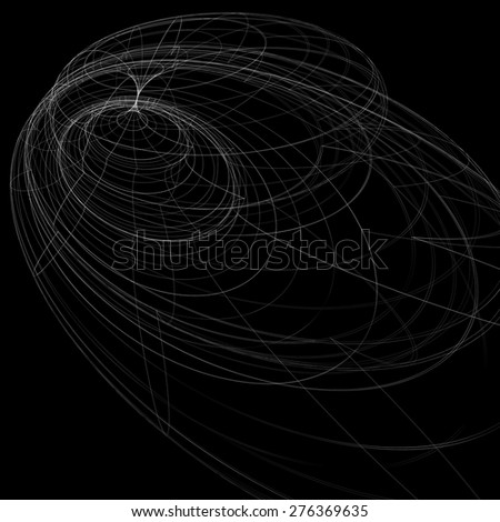Geometric dark technology and engineering backdrop, graphic abstraction with lines mesh. Netting background, complicated technical sketch. - stock vector