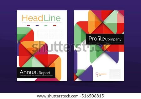Brochure Design Template Vector Business Flyers Stock Vector - A brochure template
