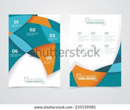 Geometric design vector business banners - stock vector