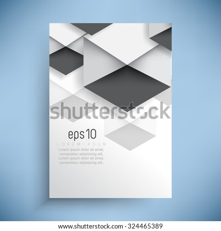 geometric elements concept corporate leaflet business background - stock vector