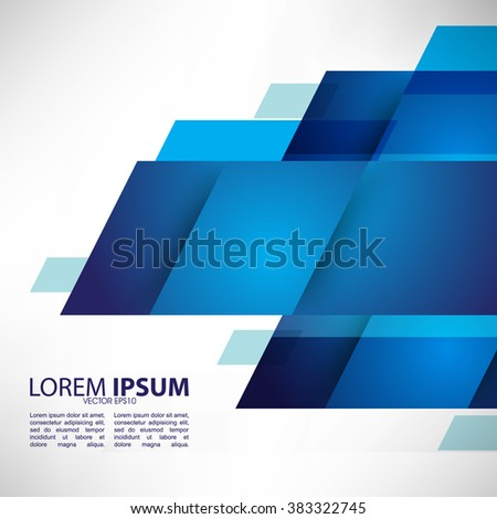 geometric elements flat layout abstract design - stock vector