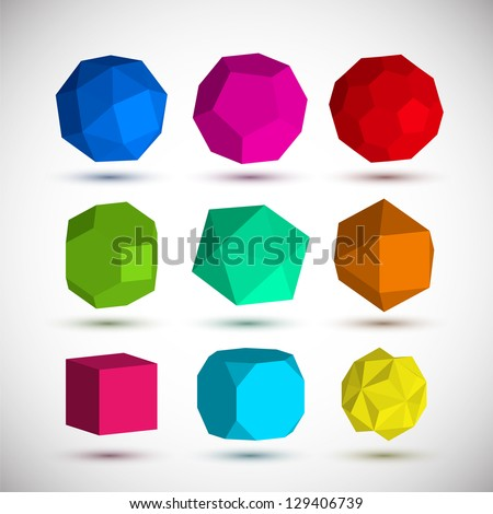 Geometric elements set - stock vector