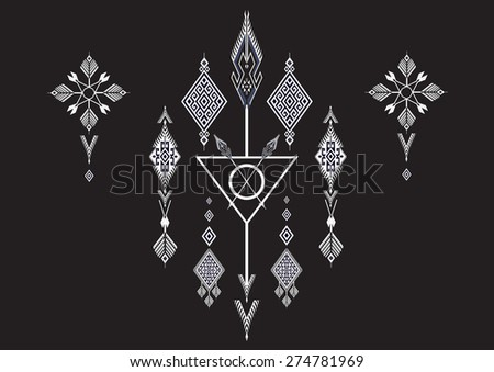 Geometric Ethnic pattern for background. - stock vector