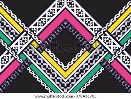 Geometric ethnic pattern seamless design for background or wallpaper. - stock vector