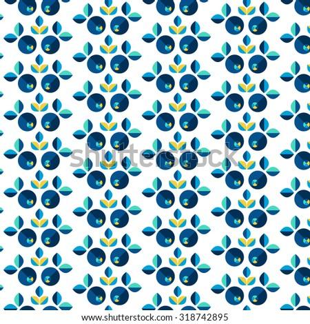 Geometric fancy floral pattern - stock vector