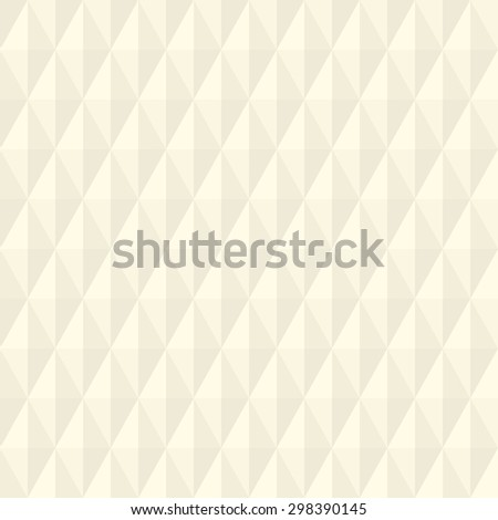 Geometric fine abstract vector background. Seamless modern pattern with light beige rhombuses - stock vector