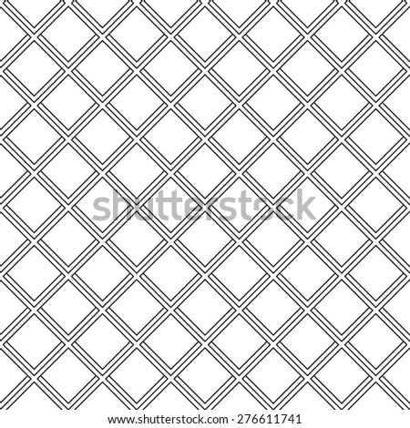 Geometric fine abstract vector background. Seamless modern texture with diagonal lines for wallpapers. Black and white pattern - stock vector