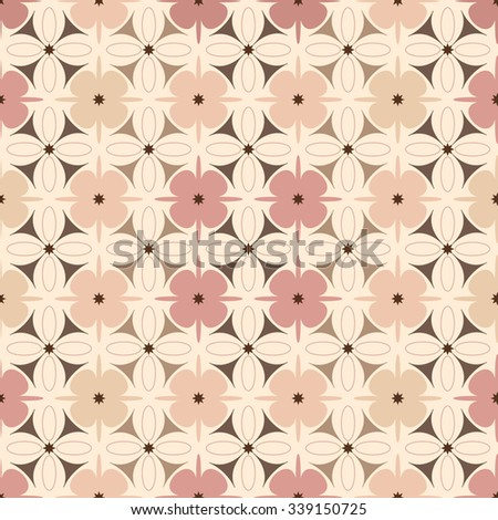 Geometric flower pattern seamless - stock vector