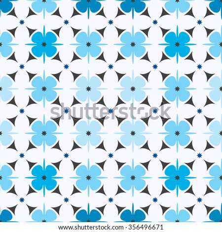 Geometric flower pattern seamless. vector illustration . floral geometry texture on light background - stock vector