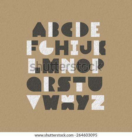 geometric font design - stock vector