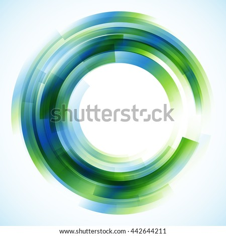 Geometric frame, round frame, abstract background, vector background, wallpaper - stock vector