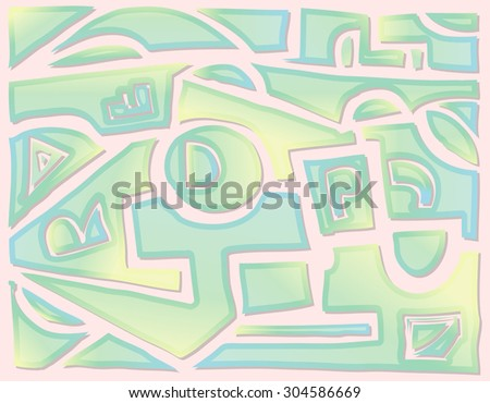 Geometric hand draw Vector abstract background  - stock vector