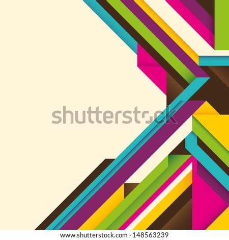 Geometric layout with abstract composition. Vector illustration. - stock vector